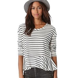 NWT Free People Auntie Em Striped Top Size M
